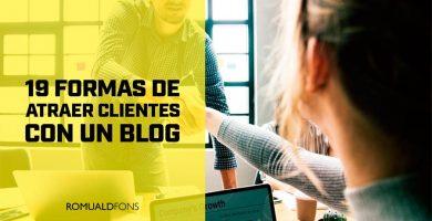atraer clientes con un blog