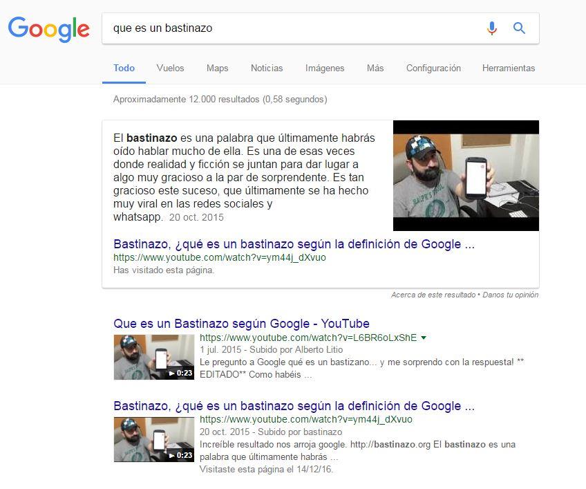Resultados directos de Google