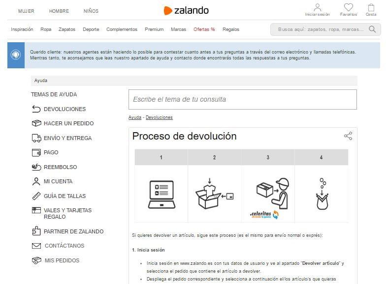 FAQs de Zalando.es