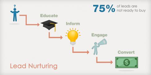Gráfico de Lead Nurturing realizado por Exit Bee Blog