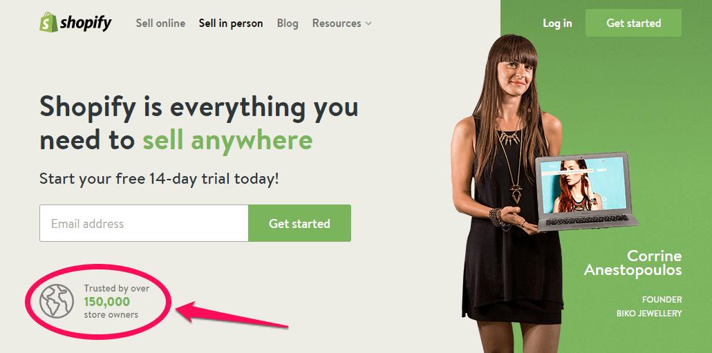 Prueba gratuita de Shopify