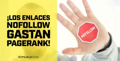 enlaces nofollow gastan pagerank
