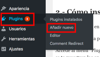 instalar un plugin en wordpress
