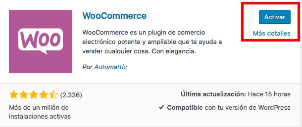 activar plugin wordpress