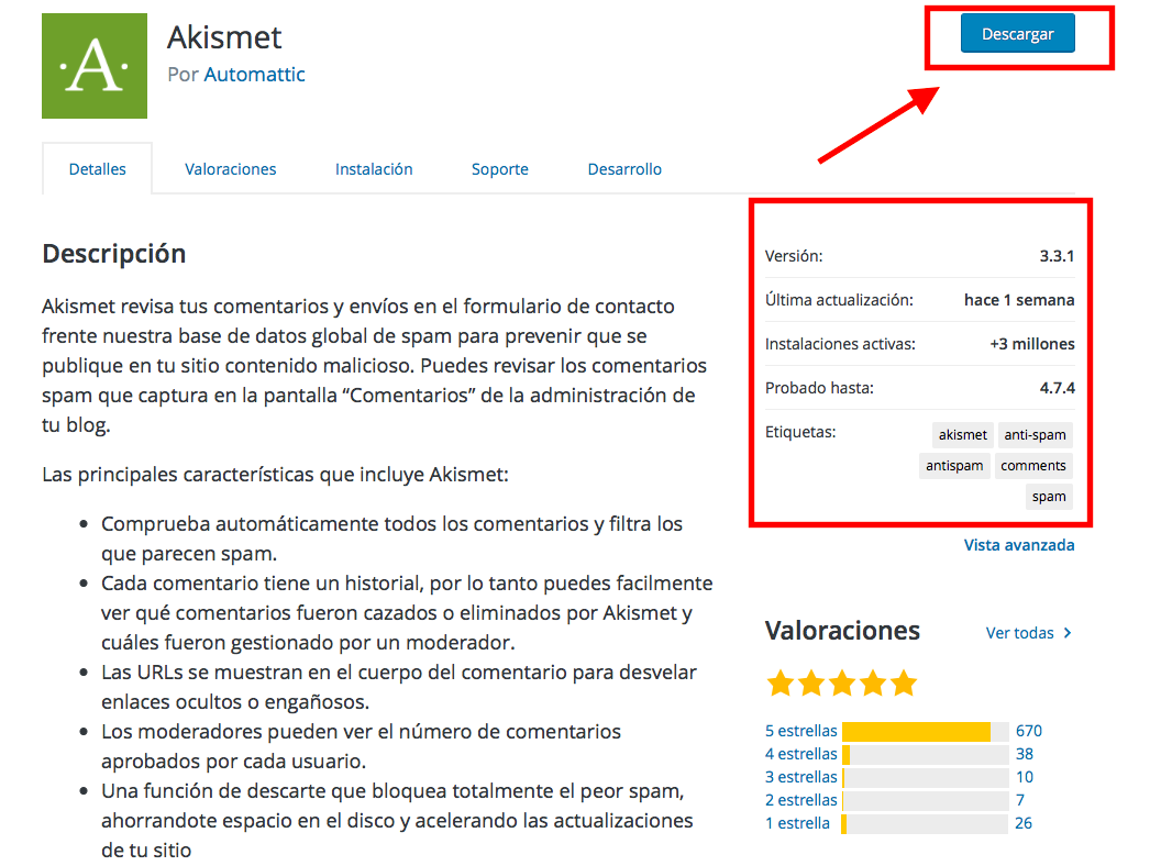 descargar un plugin en wordpress.org