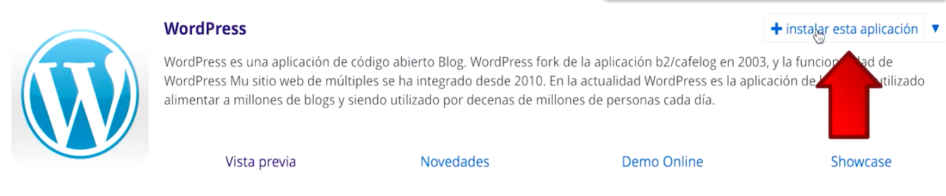 instalar wordpress en el hosting
