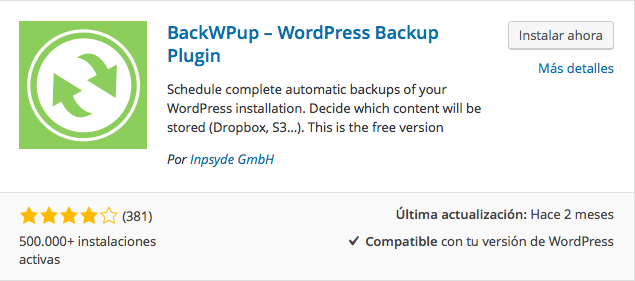 plugin backwup wordpress
