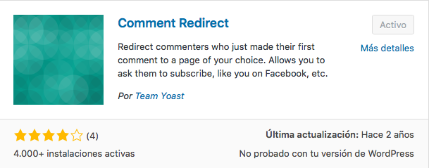 plugin comment redirect