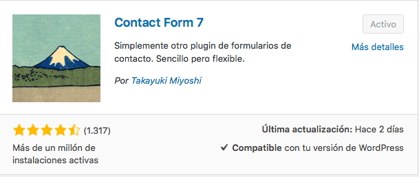 plugin formularios Contact Form 7