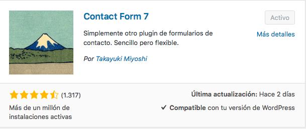 plugin formularios Contact Form 7