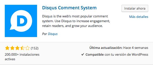 plugin comentarios Disqus