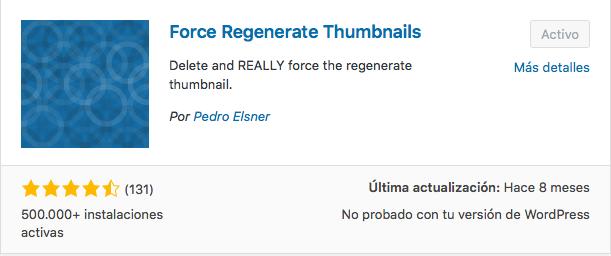 plugin force regenerate thumbnails