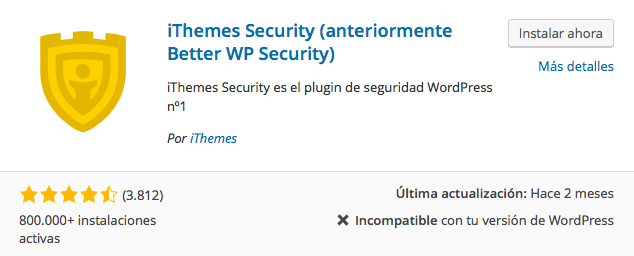 plugin iThemes Security
