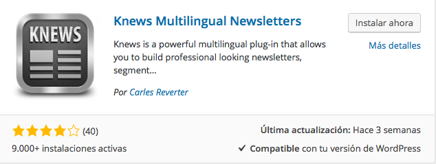 plugin knews multilingual newsletters