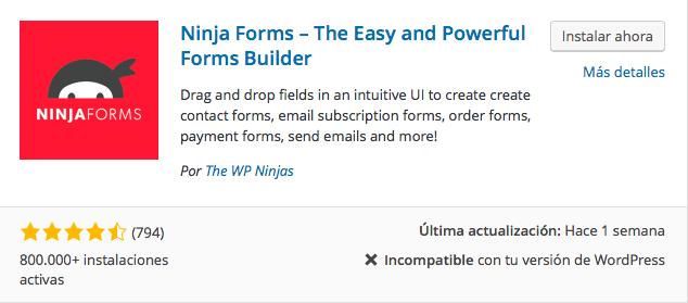 plugin formularios Ninja Forms