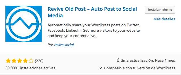 plugin revive old post