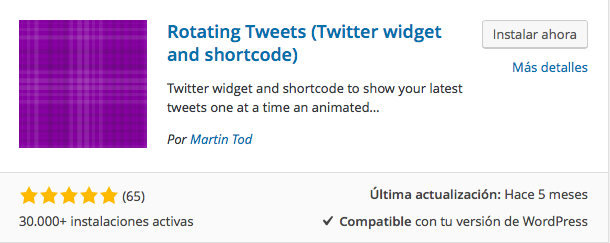 plugin Rotating Tweets