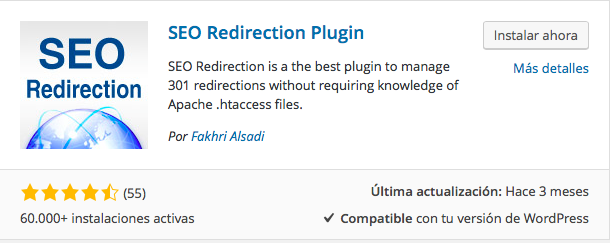 plugin SEO Redirection
