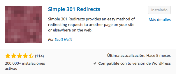 plugin simple 301 redirects