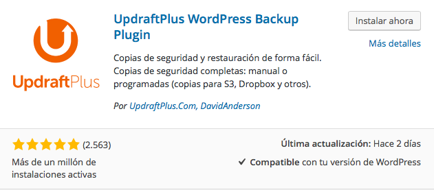 plugin updraftplus backup wordpress