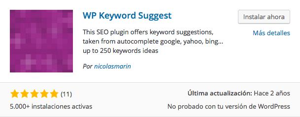 plugin Keyword Suggest