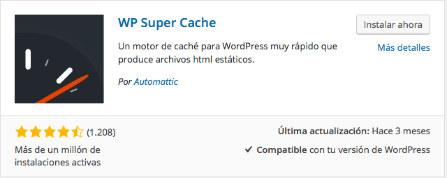plugin WP Super Cache
