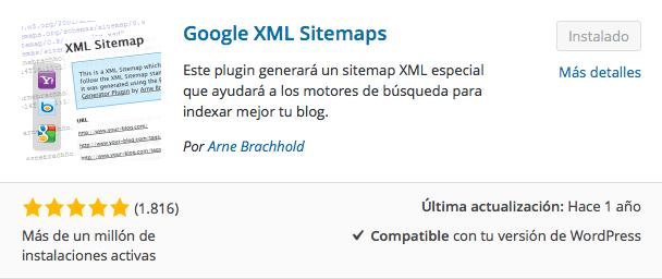 plugin google XML sitemaps