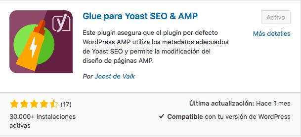 plugin Glue Yoast SEO y AMP