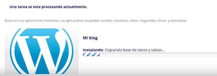 instalar wordpress sered