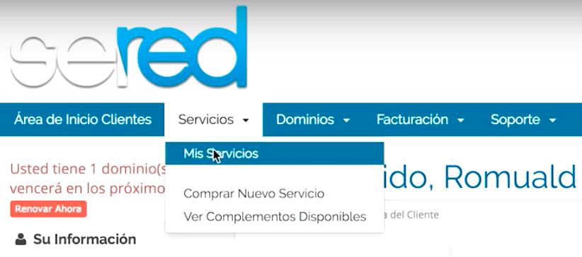 servicios hosting sered