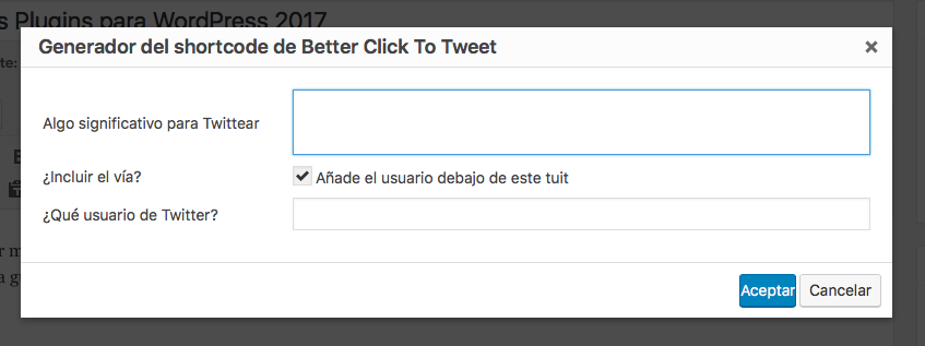 utilizar plugin click to tweet