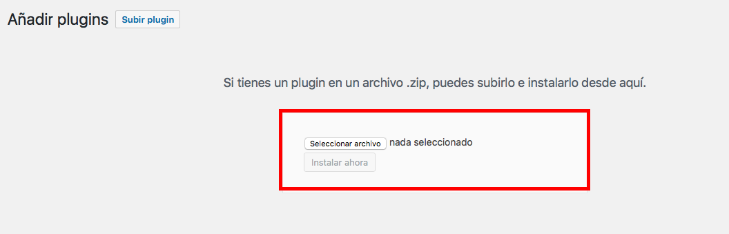 subir un plugin a wordpress