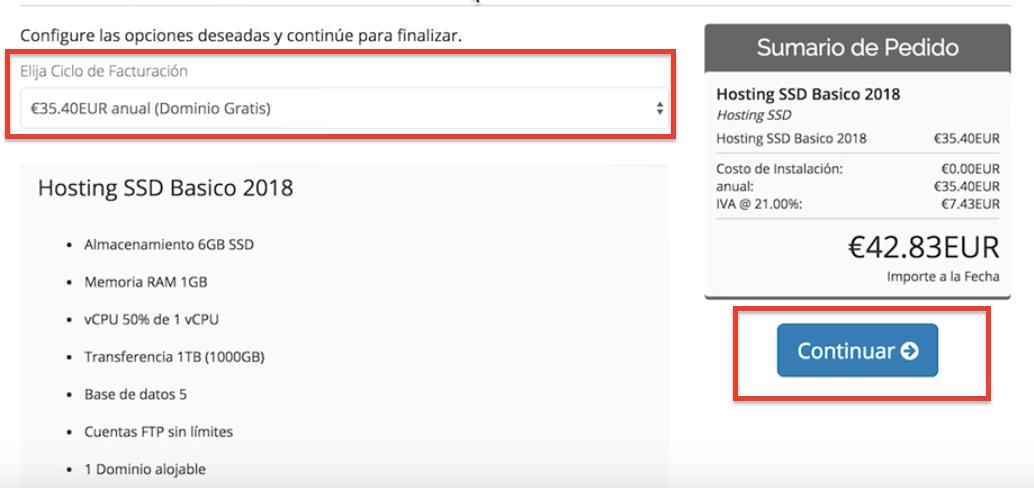cuánto cuesta un hosting
