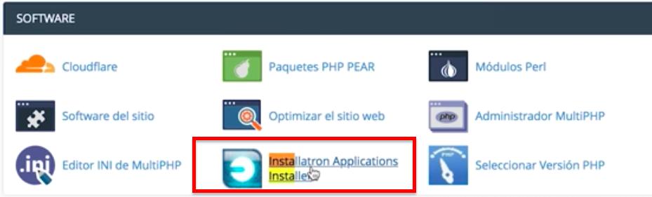 cómo instalar WP con installatron