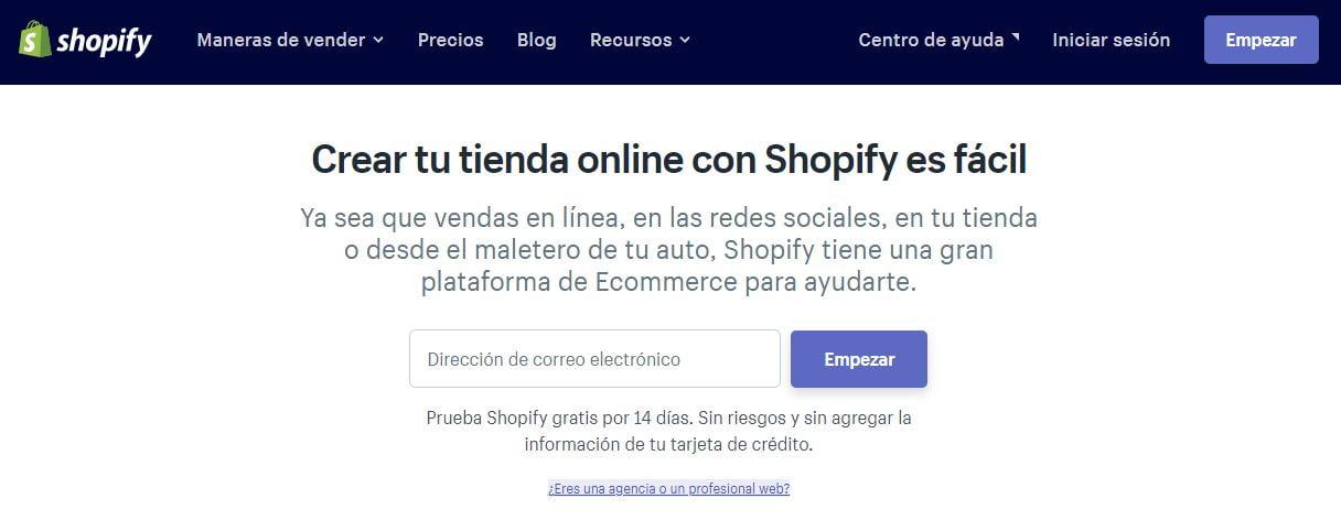 Web de Shopify