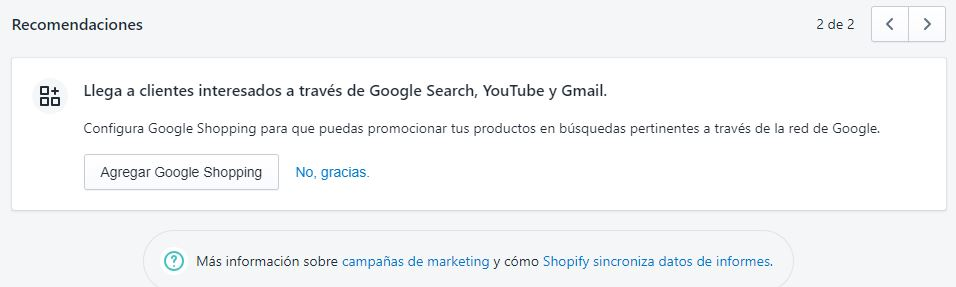 campañas de marketing shopify