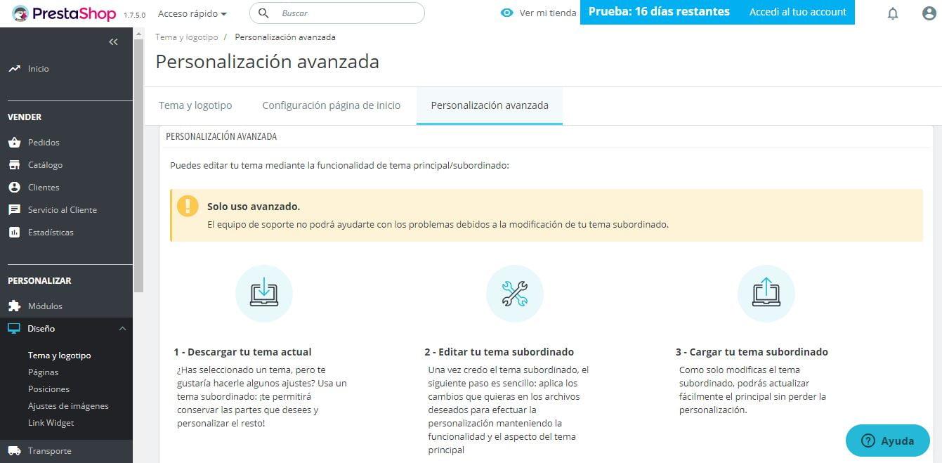 personalizacion-avanzada-prestashop-ready