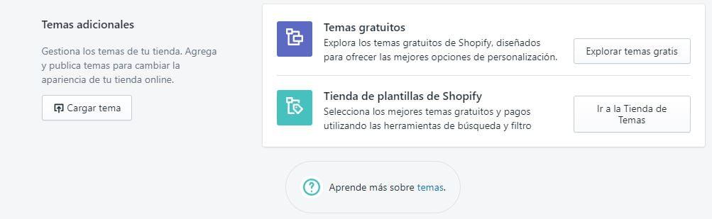 plantillas gratis y de pago de shopify