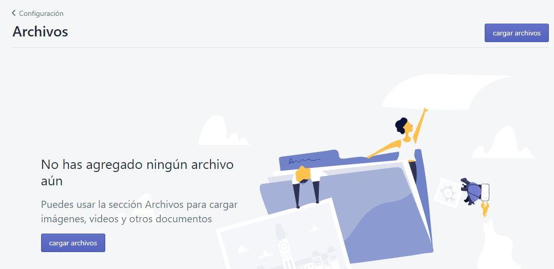 subir archivos a shopify