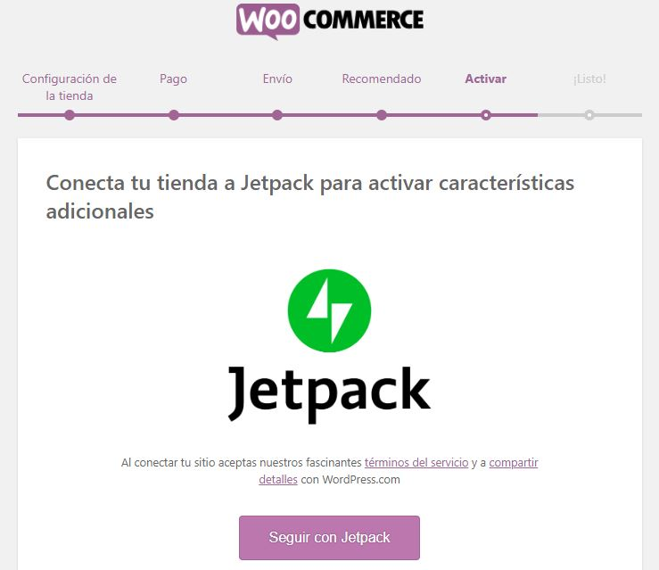 jetpack woocommerce