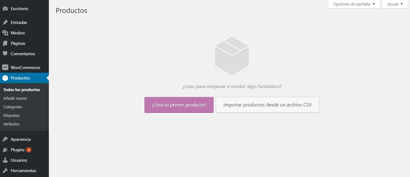 productos woocommerce