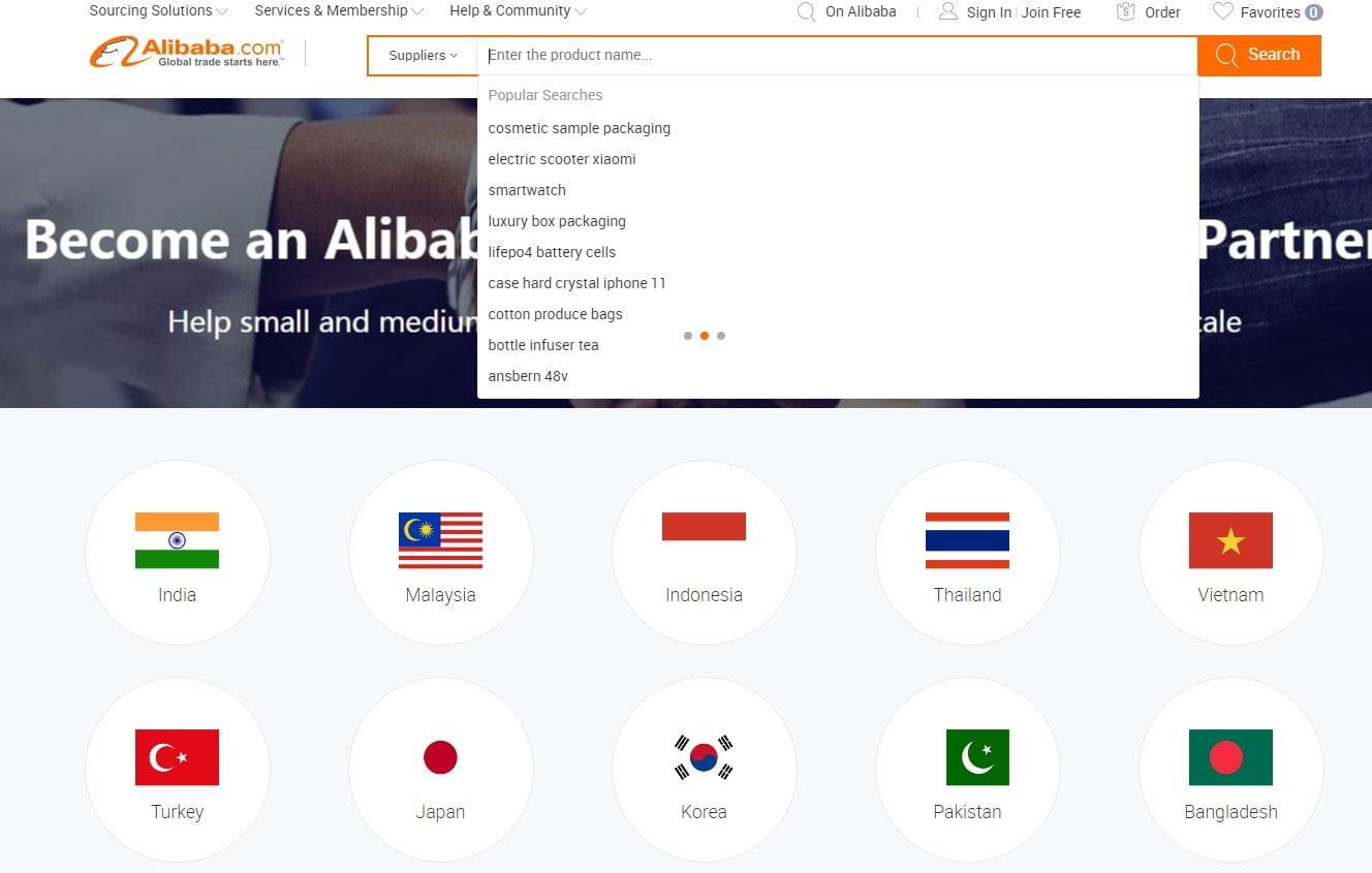 proveedores suppliers alibaba