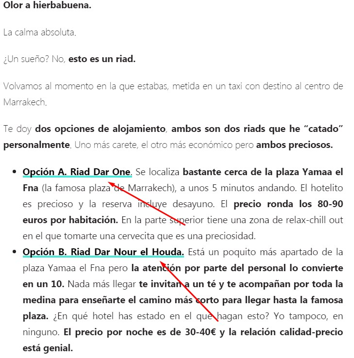ejemplos de cómo colocar enlaces de afiliado booking en web de viajes