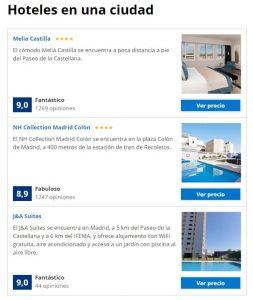 comparar hoteles de una ciudad