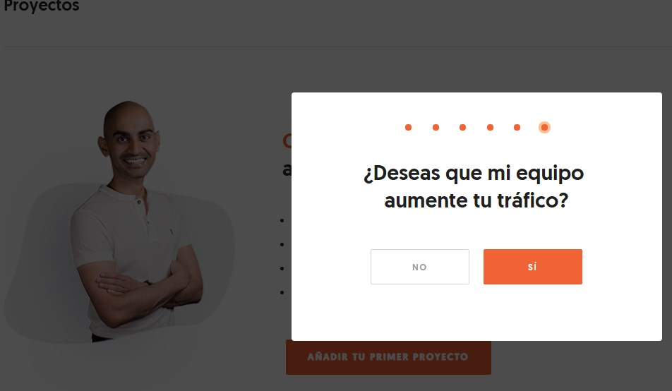 crear una cuenta gratis en ubersuggest