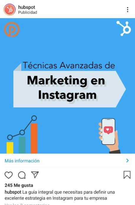 anuncio con imagen estática en Instagram Ads
