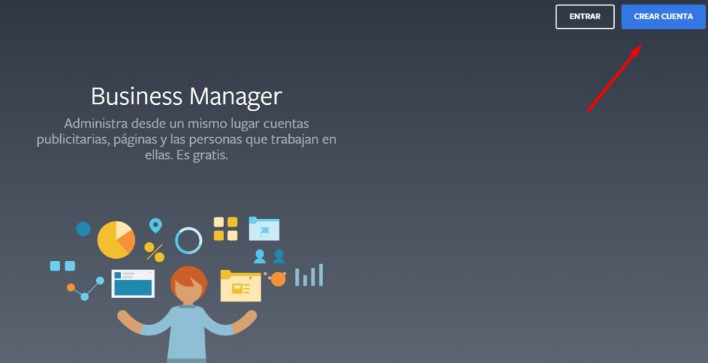 crear cuenta en business manager de Facebook