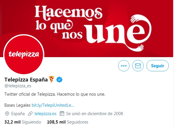 telepizza marketing en redes sociales