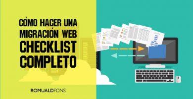 checklist SEO para hacer migración web
